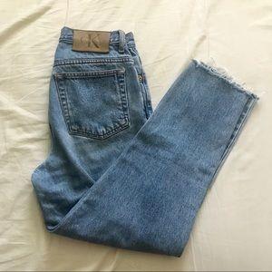 Calvin Klein vintage mom jeans cropped